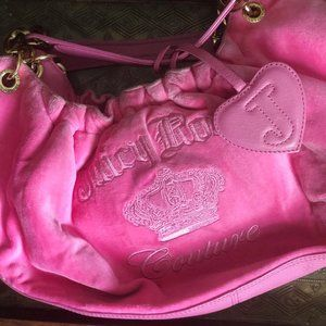 Juicy Couture Hot Pink Velour Bag